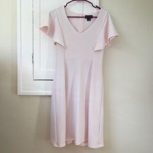 Pink Spring Cape Dress Light Pastel Sleeves Modest